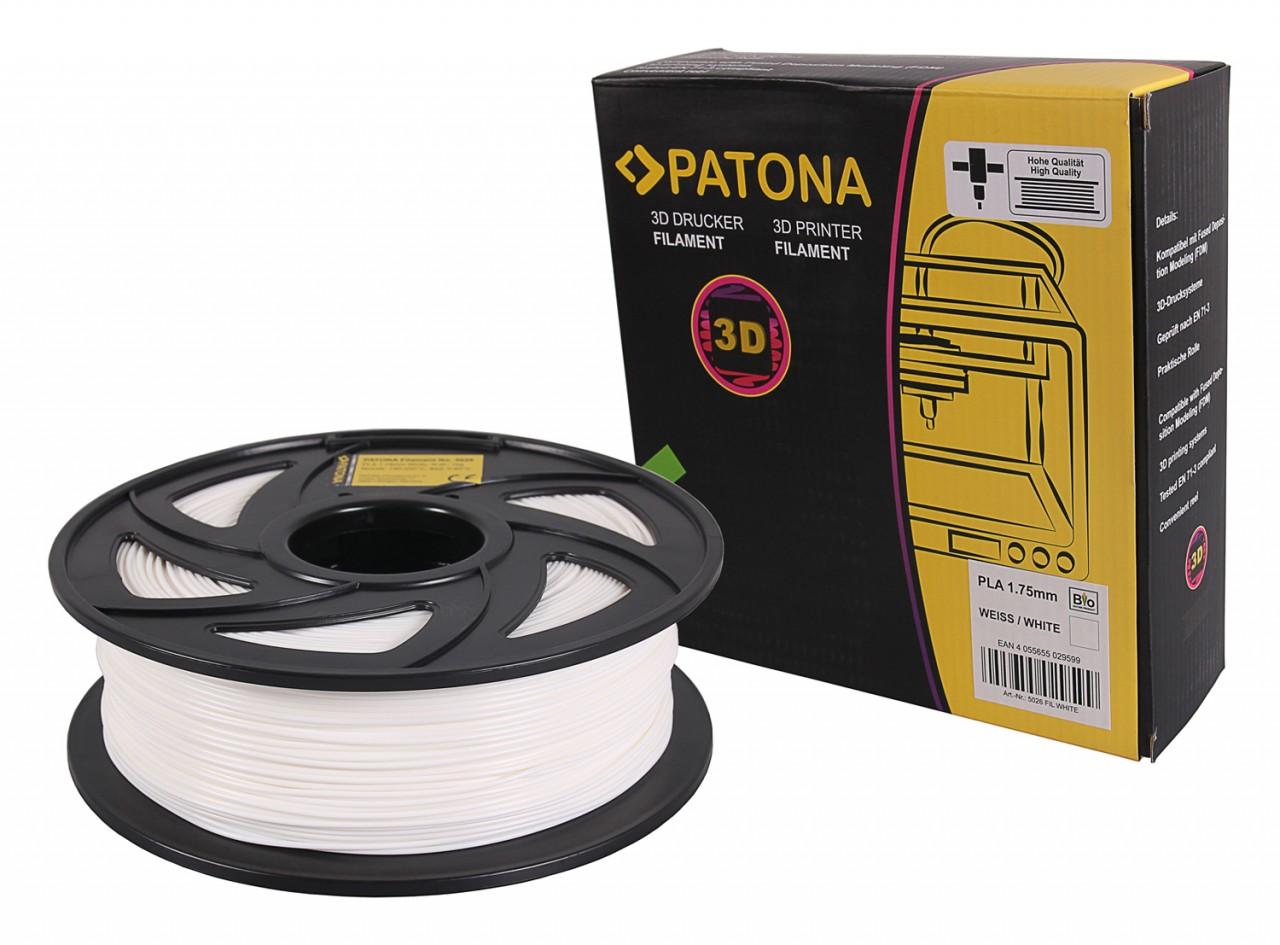 PATONA 1.75mm white PLA 3D printer Filament