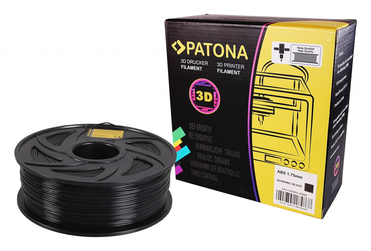 PATONA 1.75mm black ABS 3D printer Filament