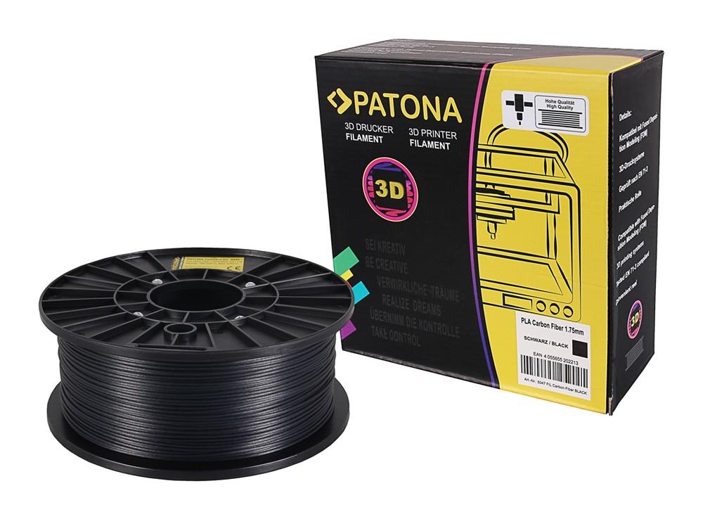 PATONA 1.75mm black PLA carbon fiber 3D printer Filament