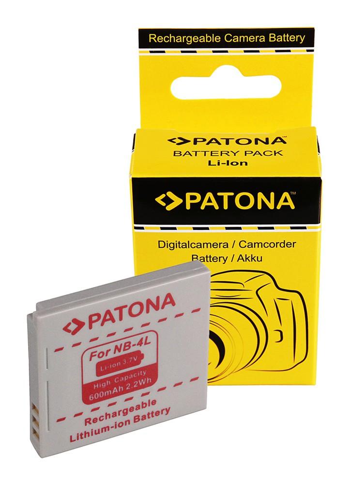 Battery f CANON NB-4L NB4L, Ixus 30,40,50,55,60,65,70,75,8