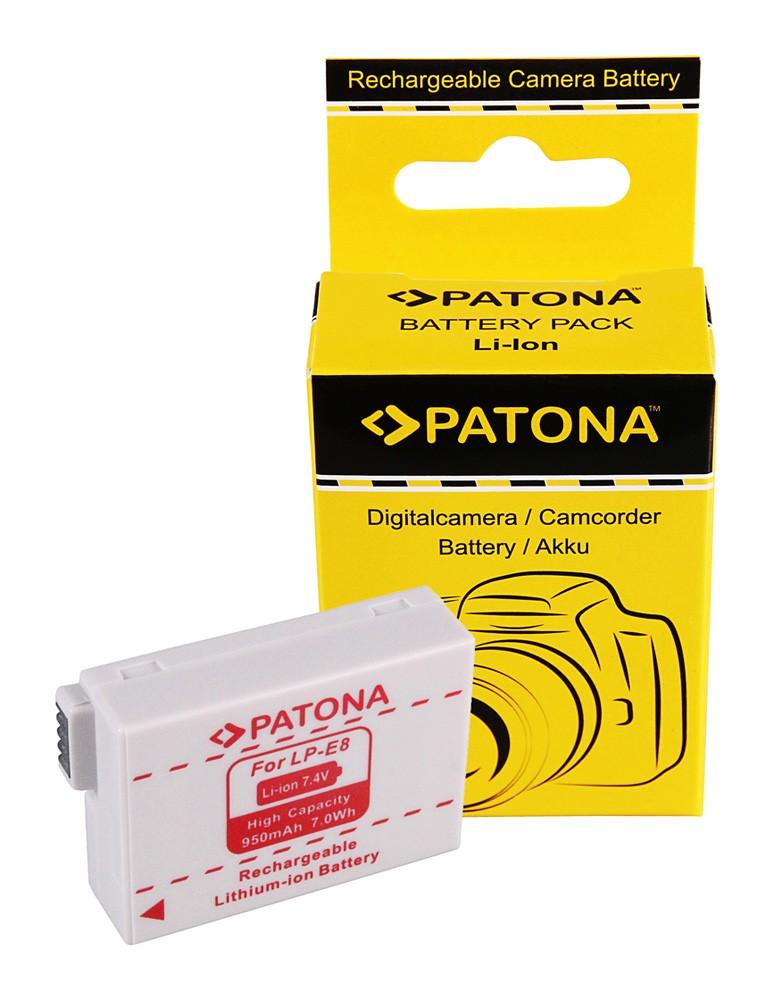 PATONA Battery Canon LP-E8 LPE8 EOS 550D EOS 600D EOS 550-D