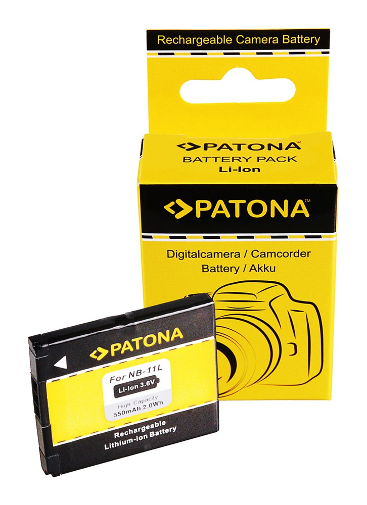 PATONA Battery f. Canon NB11L IXUS 125HS 240HS Powershot A12