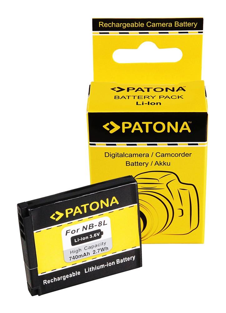 PATONA Battery f. Canon NB-8L Canon Powershot A2200 A3000 IS