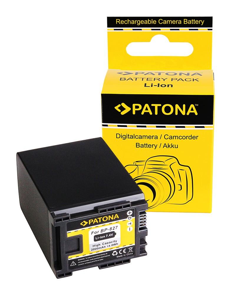 Battery f. CANON BP-827 FS10 FS100 FS11 FS200 FS21 FS21 FS22