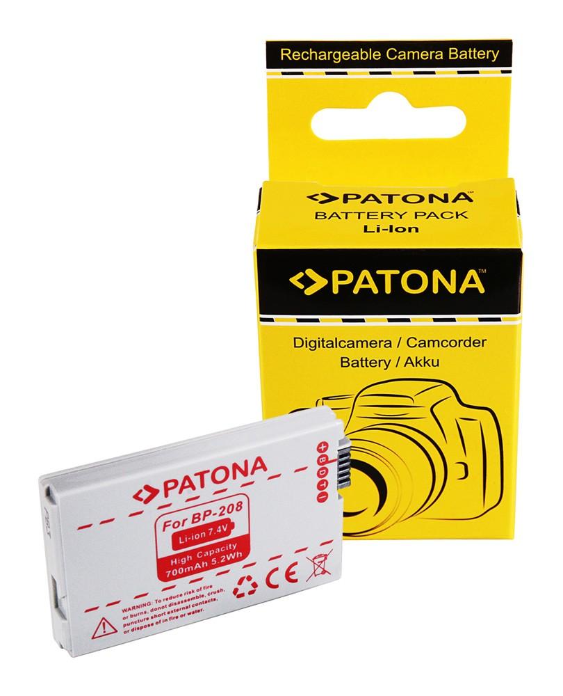 PATONA Battery f. Canon BP208 BP-308 BP-315 DC10 DC20 DC21 D