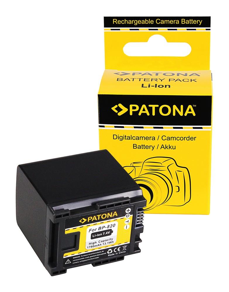 PATONA Battery f. Canon BP-820 Canon HF-G30 Canon XA20 Canon