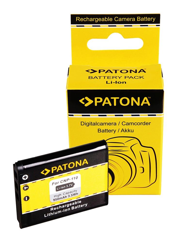 PATONA Battery f. Casio NP110 Casio Exilim EX-Z2000 EX-Z2300