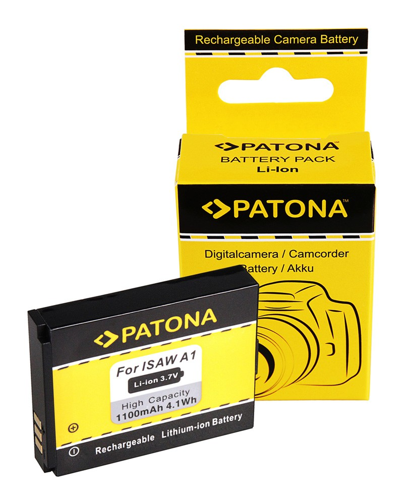 PATONA Battery f. Actionpro X7 ISAW A1 A2 A3 ISAW Advance Ex