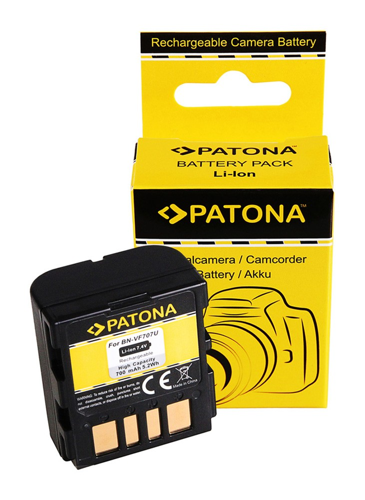 PATONA Battery f. JVC BN-VF707U JVCGRX4 JVCGRX5 JVCD250 JVCD