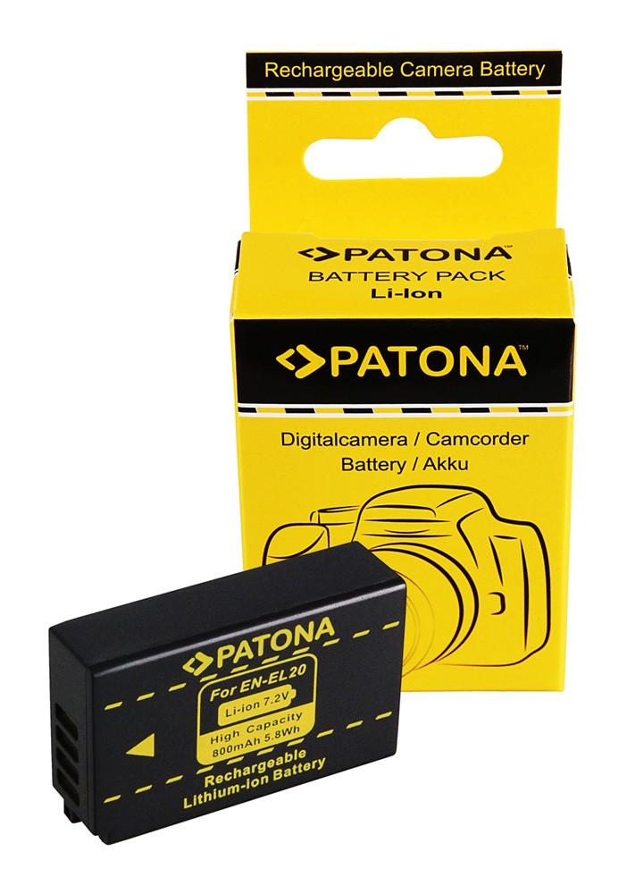 PATONA Battery for Nikon 1J1 EN-EL20 1 J-1 J1 BATTERIE ACCU