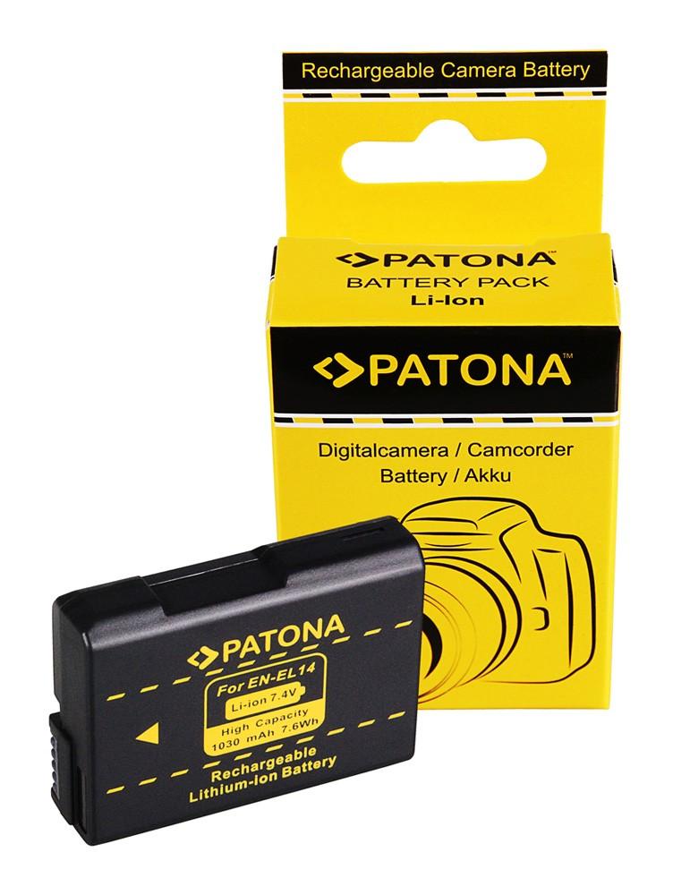 PATONA Battery EN-EL14 ENEL14 f. NIKON P7100 P7000 D5100 D32