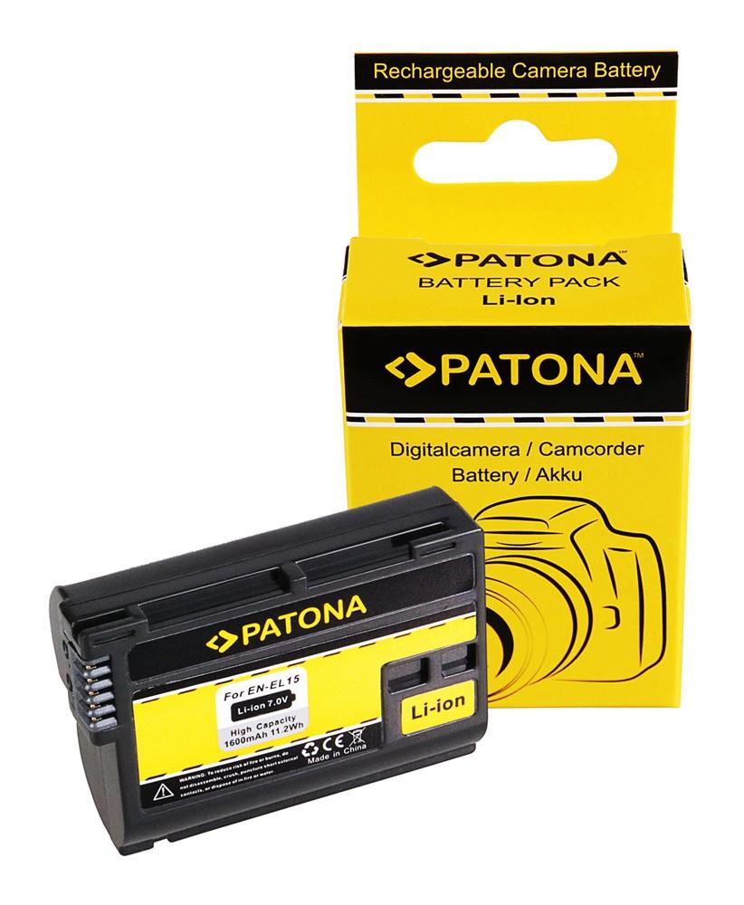 PATONA Battery EN-EL15 ENEL15 f. NIKON V1 D7000 D800 D800 Z6