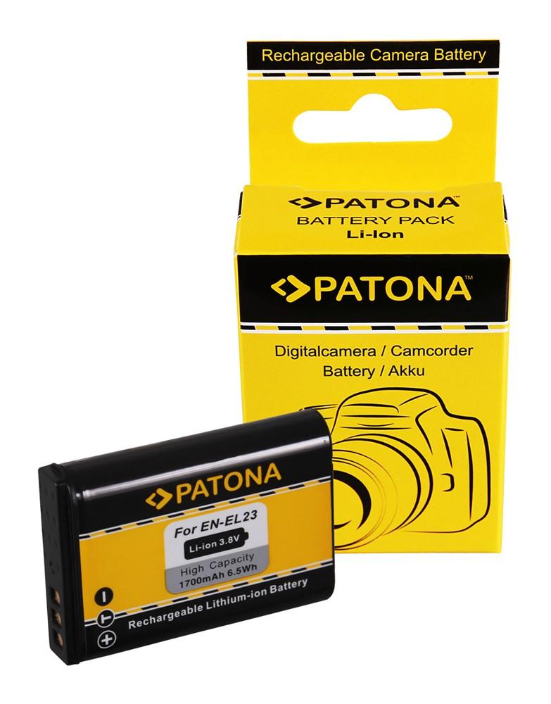 PATONA Battery f. Nikon Coolpix P600 Nikon EN-EL23 ENEL23 Ni