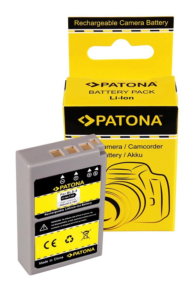 PATONA Battery f Olympus BLS5 PEN E-PL2 PEN E-PL3 PEN E-P3 E