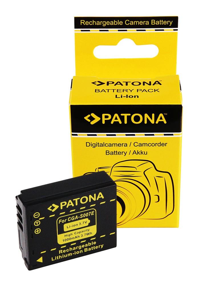 Battery f. PANASONIC CGA-S007 S007 DMC-TZ5 TZ4 TZ3 TZ2 TZ1