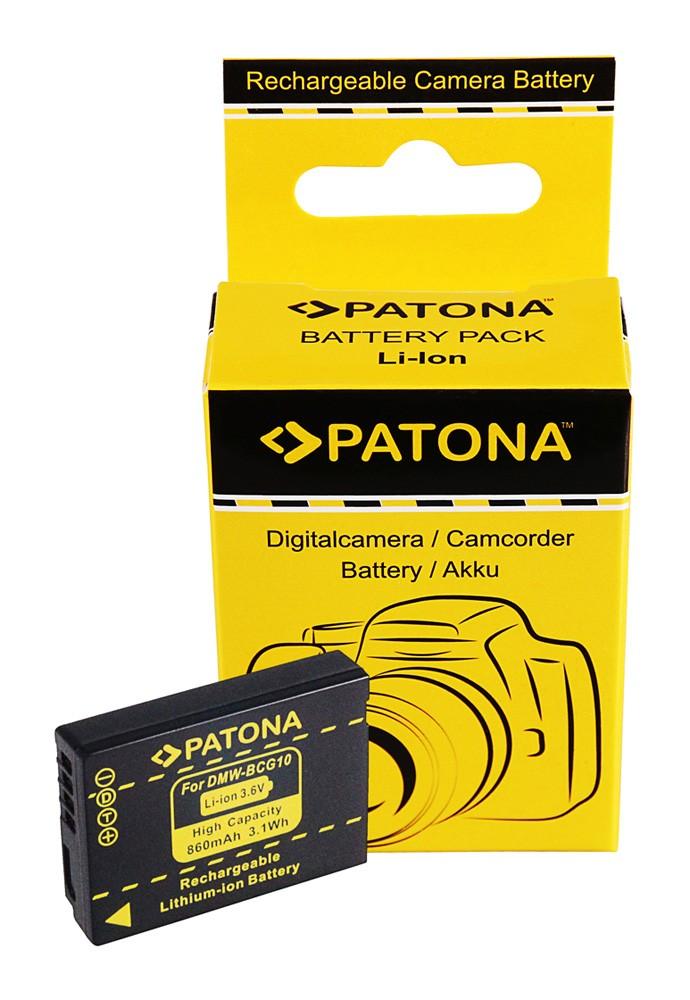 Battery f. Panasonic Lumix DMC-TZ6 TZ7 ZS1 ZS3 DMW-BCG10E