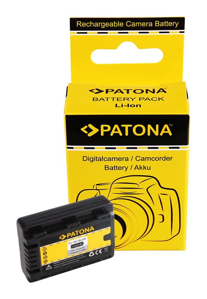 PATONA Battery f. Panasonic HDC-SDX SDR-S50 T50 VW-VBL090E-K