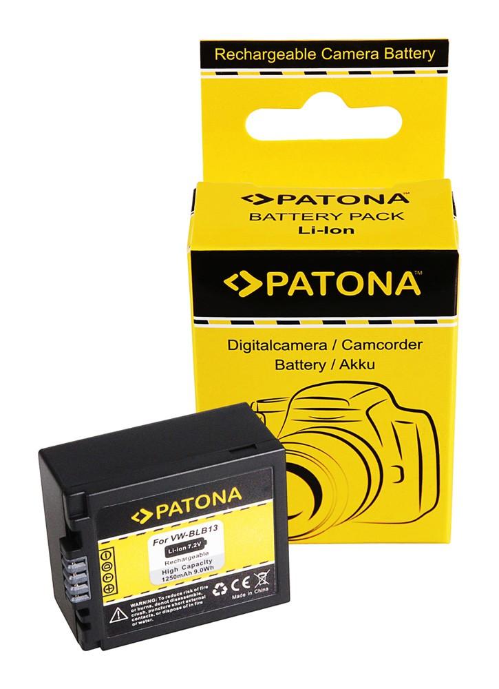 PATONA Battery f. Panasonic DMW-BLB13 DMW-BLB13E DMC-G1 DMC-
