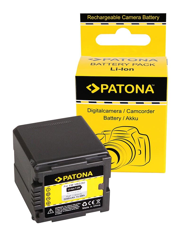 PATONA battery f. Panasonic VW-VBG260 compatible to VW-VBG07