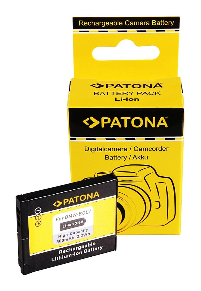 PATONA battery f. Panasonic DMW-BCL7E SZ9 SZ3 XS1 FS50 FH50