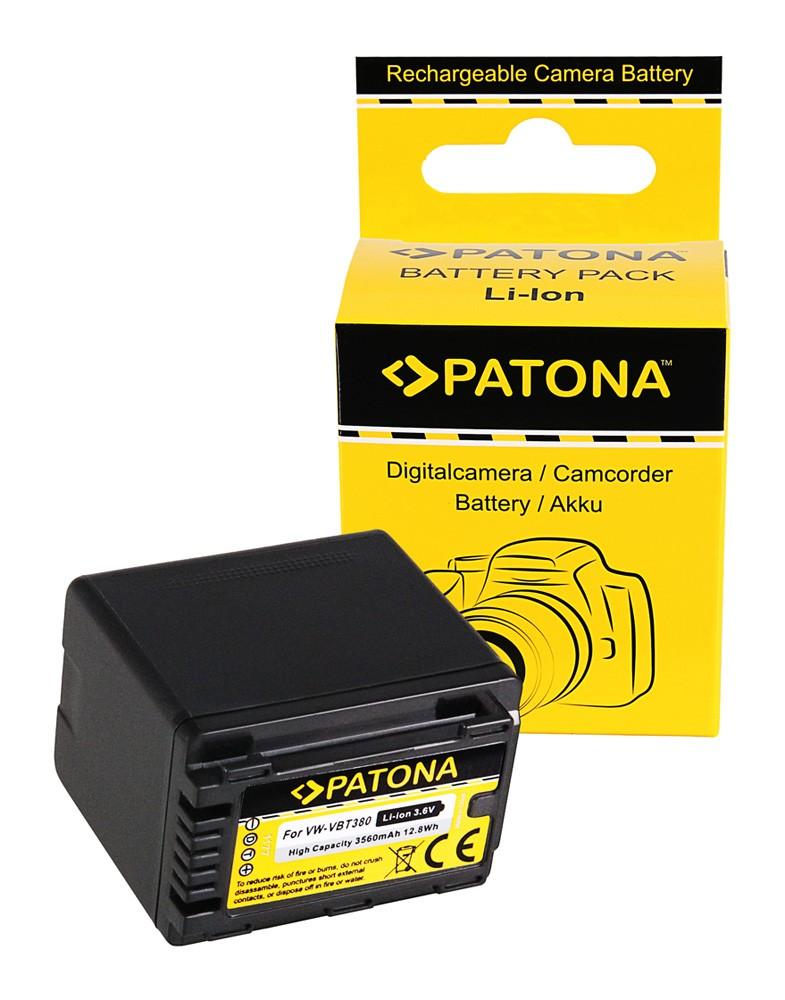 PATONA Battery f. Panasonic VW-VBT380 HC-V720 V727EB V770EB