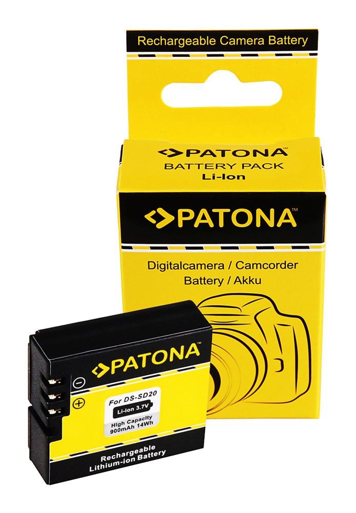 PATONA Battery f. Rollei Bullet 3s 4s 5s DS-SD20 Astak CM-7