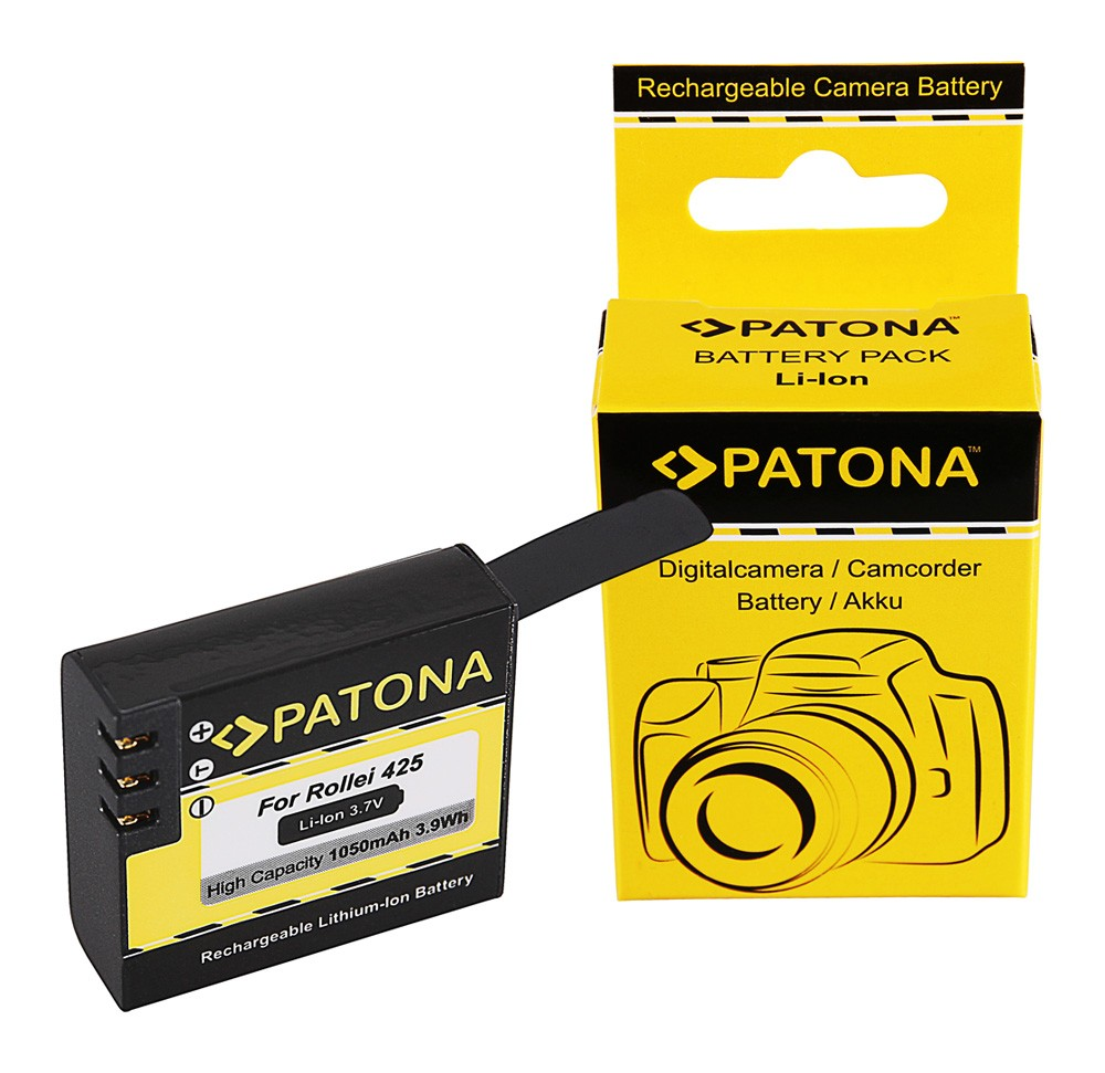 PATONA Battery f. Rollei Actioncam RL425 425, 426, 430