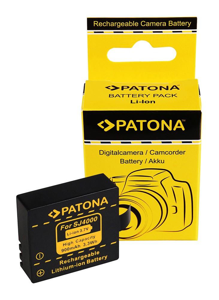 PATONA Battery f. SJCAM SJ4000 SubTig3 Rollei Actioncam 220