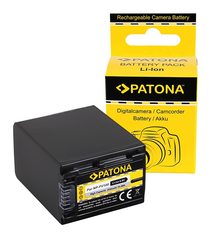 PATONA Battery f. Sony HDR-CX110 HDR-CX170 NP-FV30 NP-FV50 N