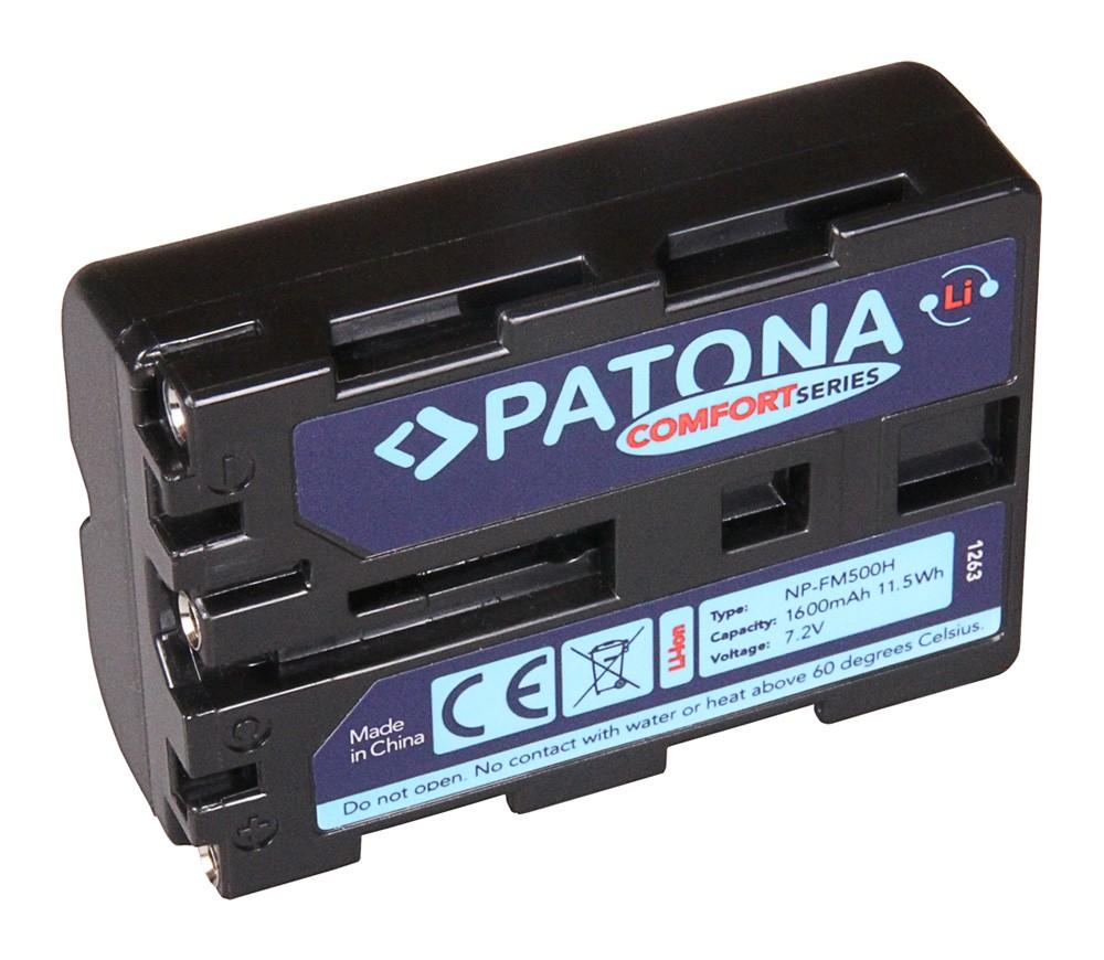 PATONA Comfort Battery f. Sony NP-FM500H Alpha DSLR-A100 DSL