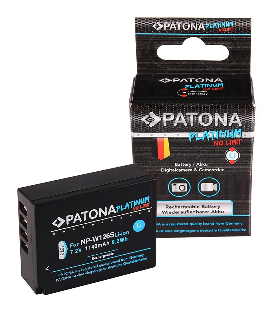 PATONA Premium Battery f. Fuji NP-W126 HS33 EXR Fujifilm FU