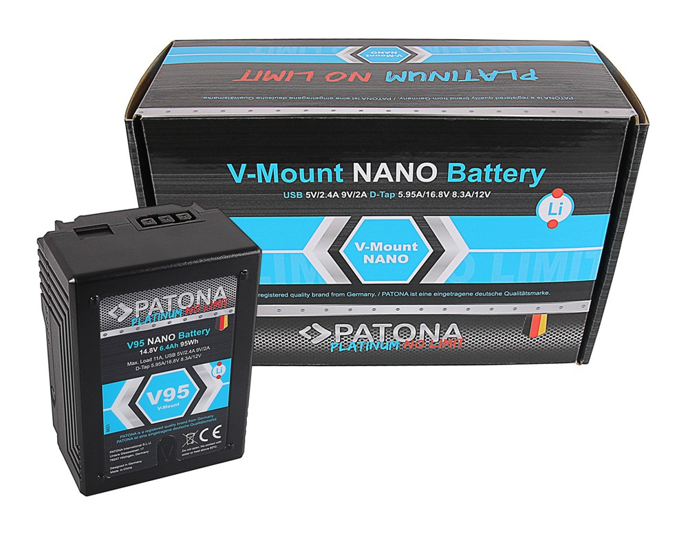 PATONA Platinum NANO V95 V-Mount 95Wh f. Sony DSR 600P 650P