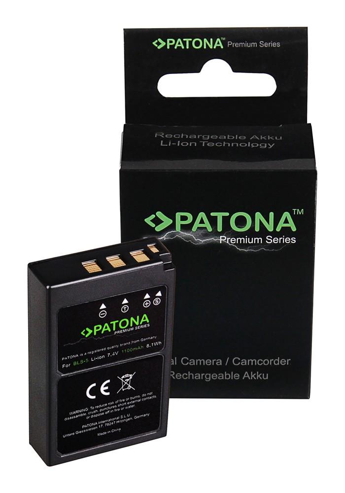 PATONA Premium Battery f. Olympus BLS5 E-P3 E-PL2 PEN E-PL3