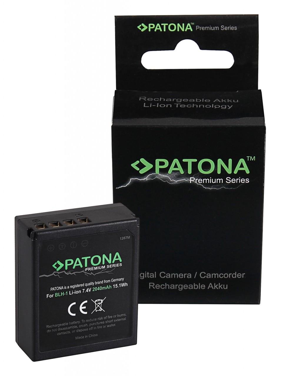 PATONA Battery fully decoded f. Olympus BLH-1 OM-D EM-1 Mark