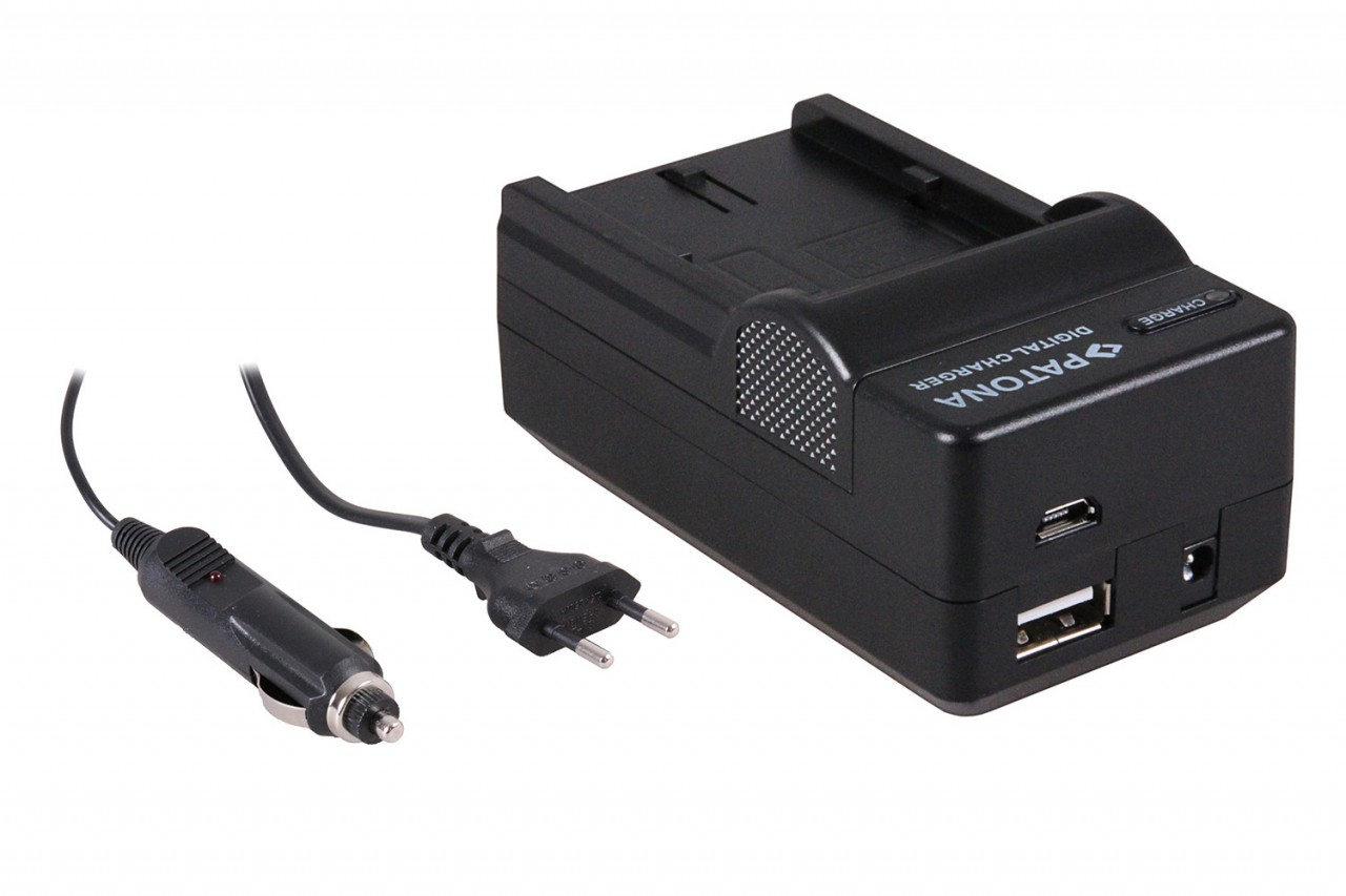 PATONA 4in1 Charger for CANON Battery BP-511, BP-512, BP-522