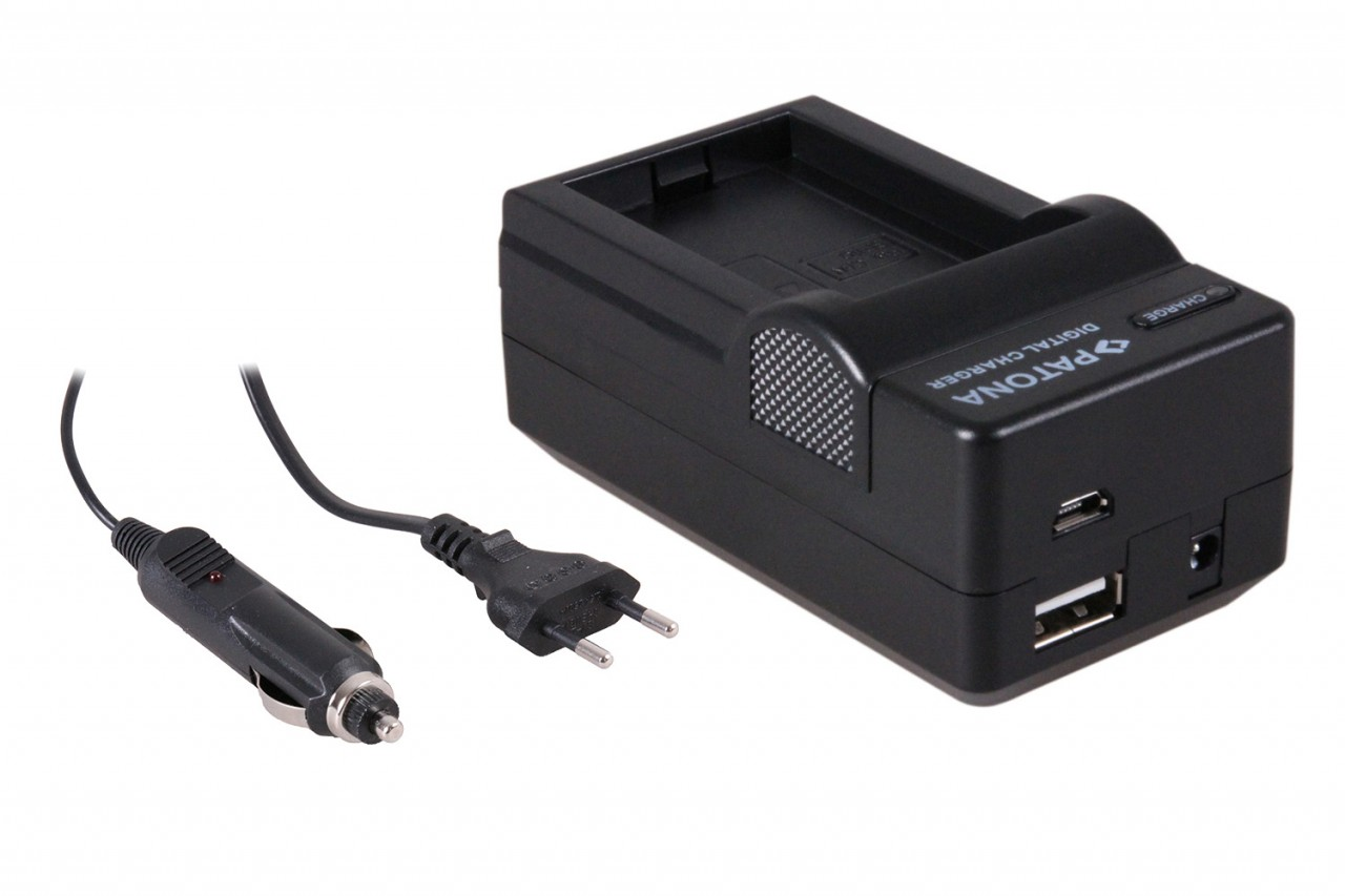 PATONA 4in1 Charger Canon BP110 BP-110 Legria HFR21 HFR20 HF