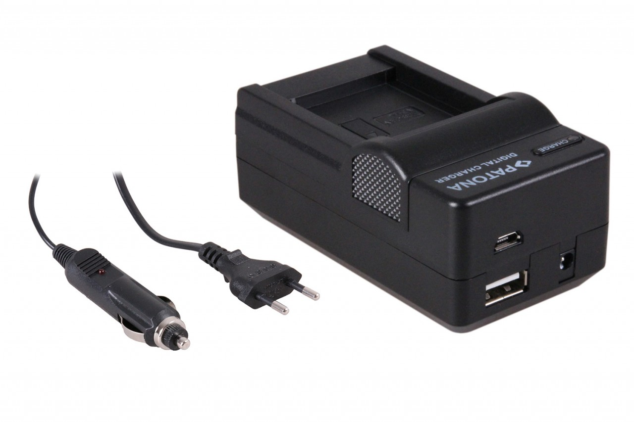 PATONA 4in1 Charger f CANON IXUS 125HS 240 HS Powershot A120