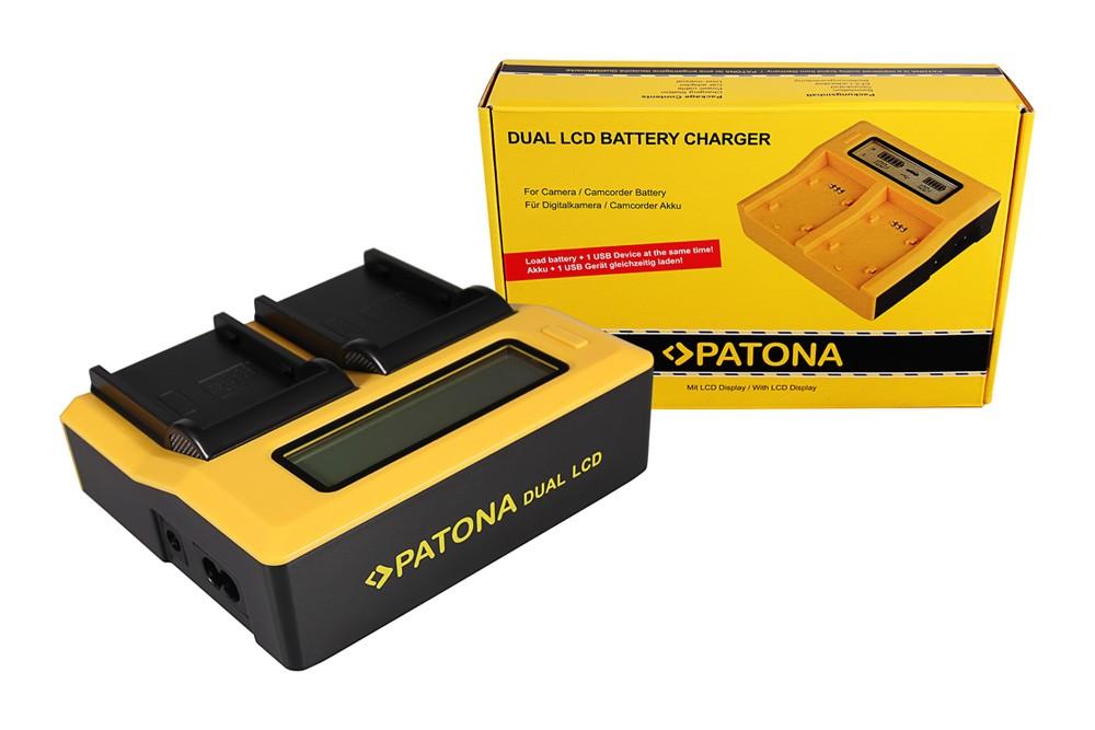 PATONA Dual LCD USB Charger for Canon BP911 BP-911 BP914 BP-