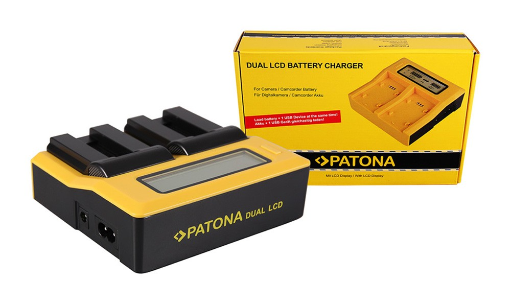 PATONA Dual LCD USB Ladegerät f. Canon NB-9L Digital IXUS 10