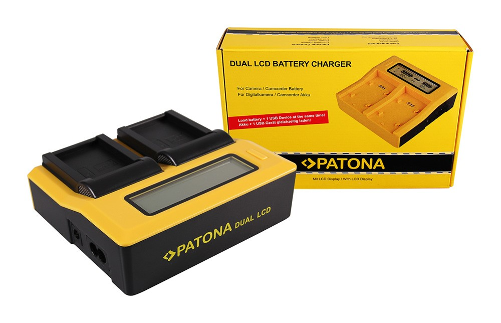 PATONA Dual LCD USB Charger for Canon LP-E17 EOS 750D 760D 8