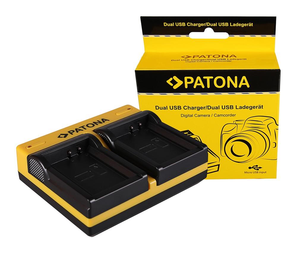 PATONA Dual Ladegerät f. Canon LP-E10 EOS EOS1100D EOS-1100D
