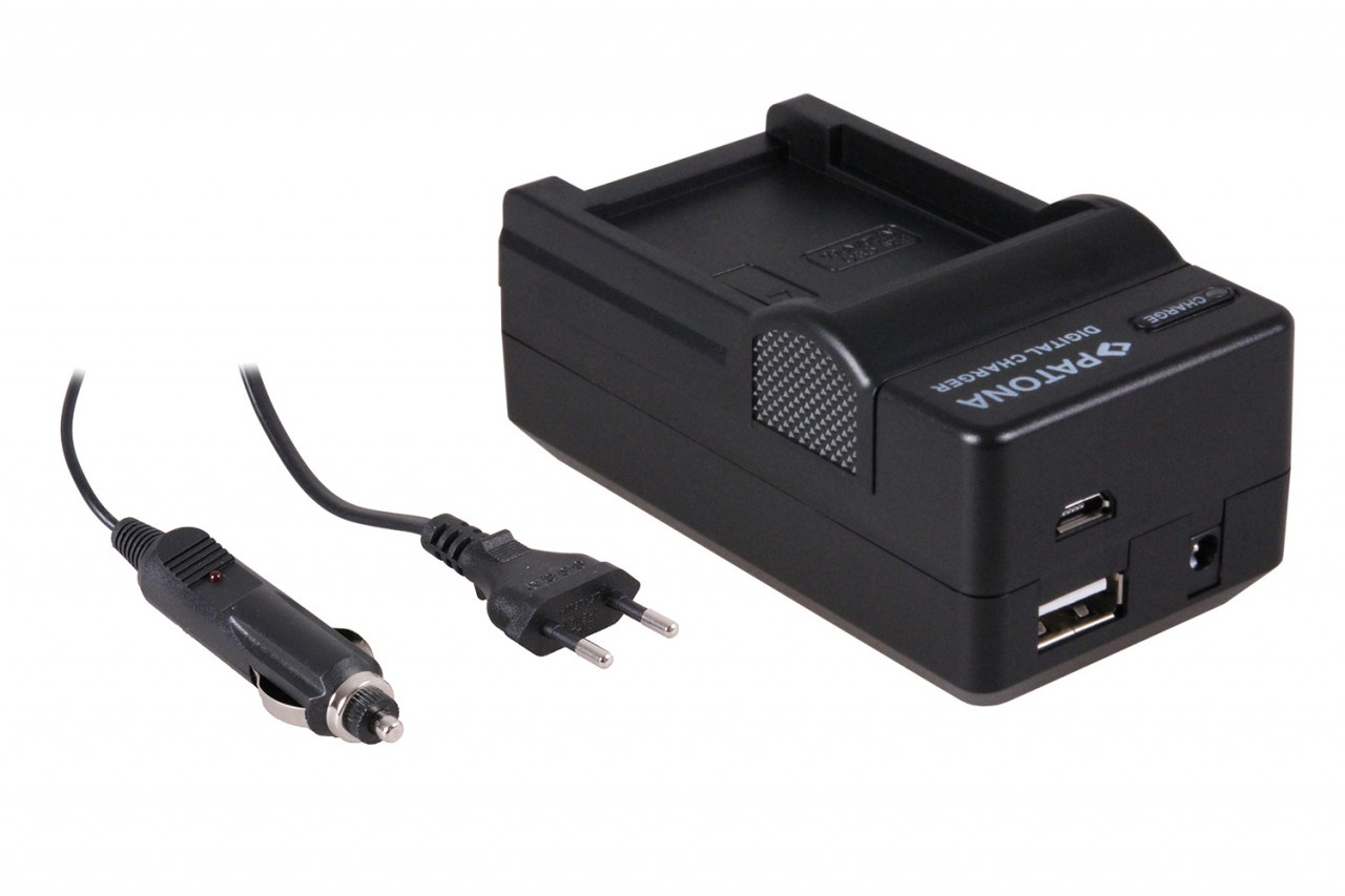 PATONA 4in1 Charger f. CASIO NP-60 NP60 EXILIM EX-S10 EX-Z80