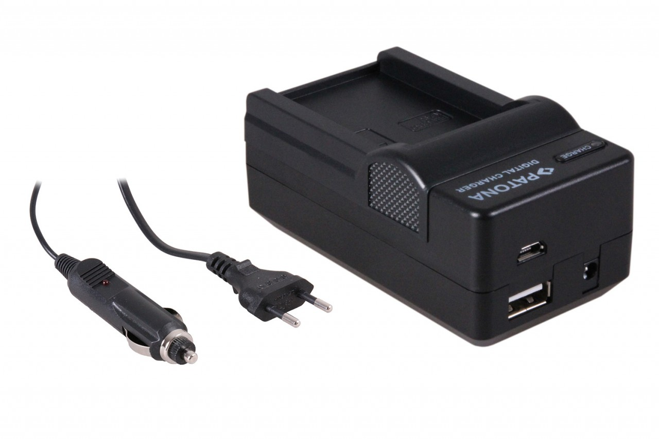 PATONA 4in1 Charger Casio NP-90, NP90, NP.90, EX-H10, EX-FH1