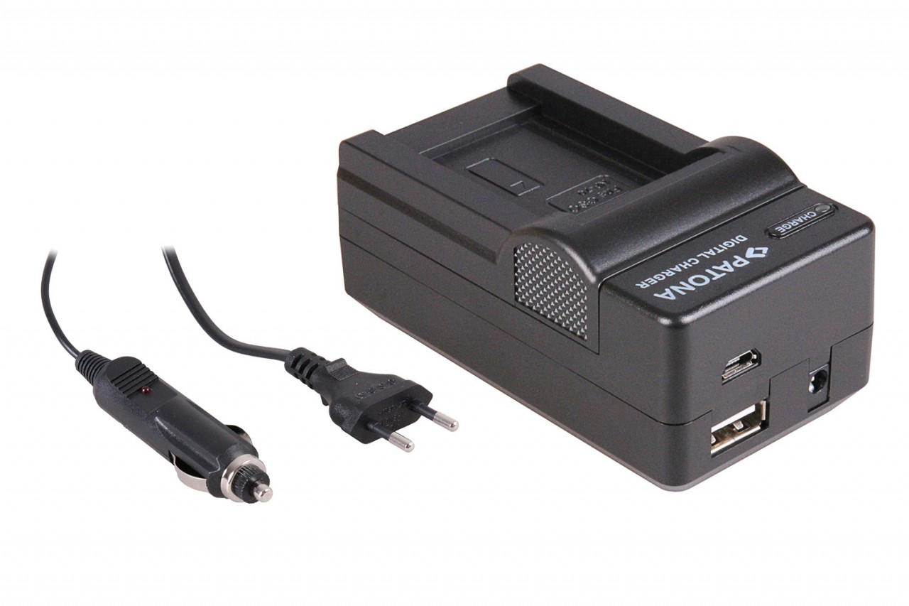 PATONA 4in1 Charger f. Casio Exilim EX-Z150 Z155 Z250 NP70 N