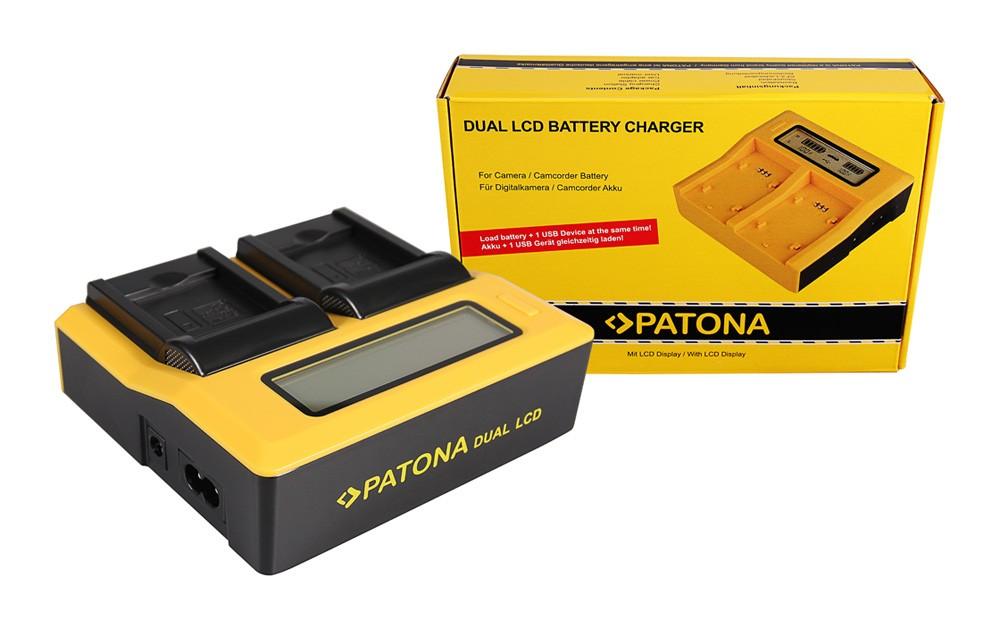 PATONA Dual LCD USB Ladegerät f. Nikon Casio NP-120 CoolPix
