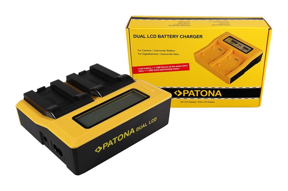 PATONA Dual LCD USB Ladegerät f. Casio NP-50 Exilim EXV7 EX-
