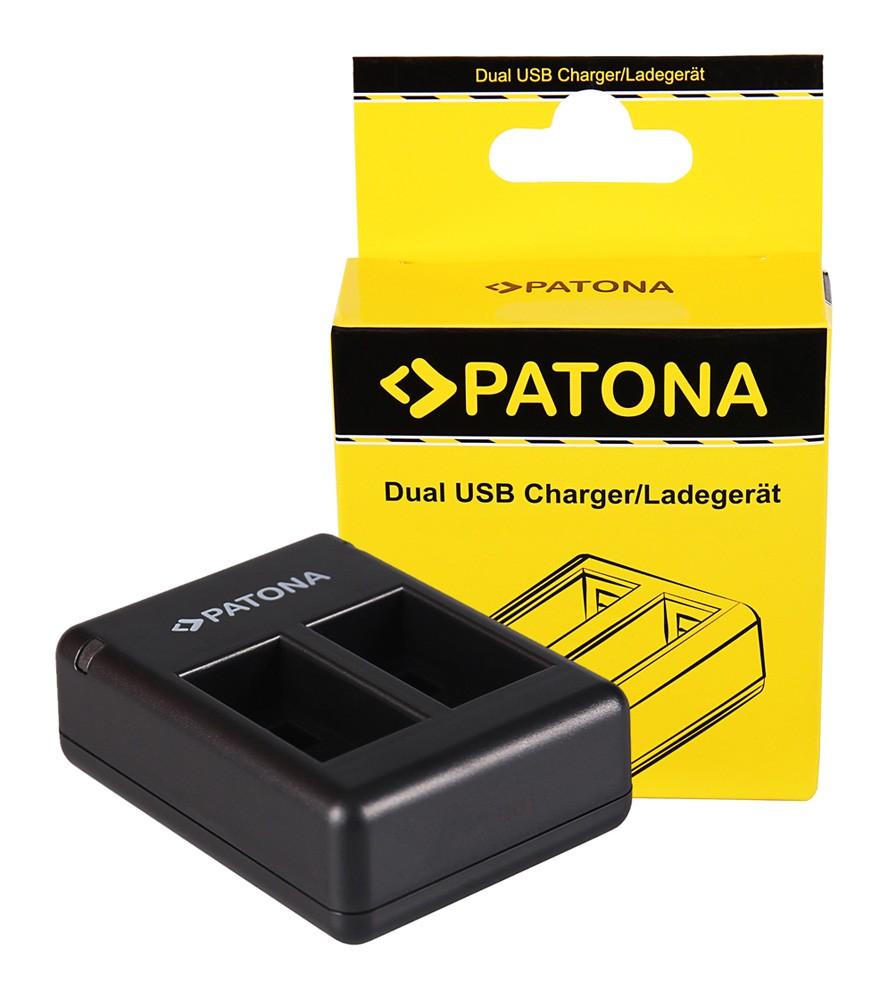 PATONA Dual Quick-Charger f. Garmin Virb 360 VIRB360 GMICP70