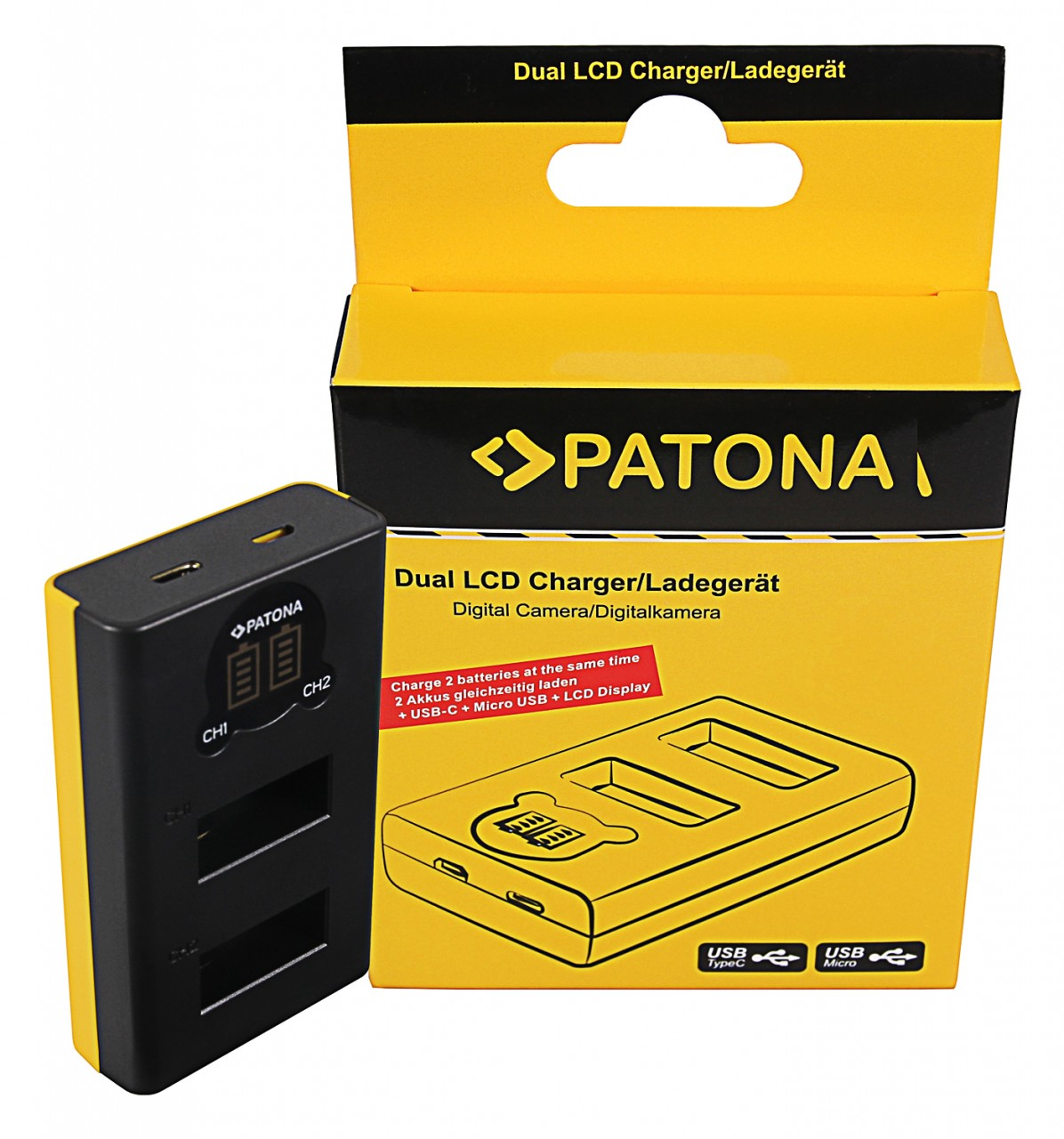 PATONA Dual LCD USB Charger f. GoPro Max SPCC1B