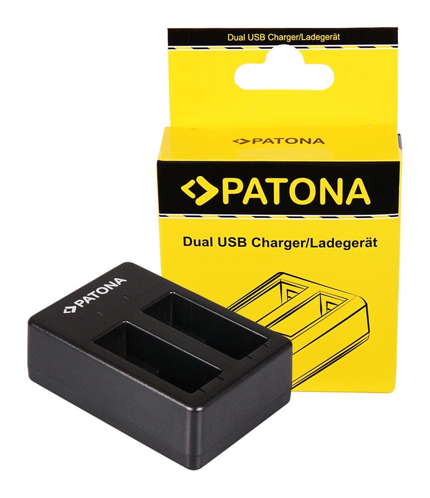 PATONA Dual Quick-Charger f. GoPro Hero 8 AHDBT-801 Hero 7 A