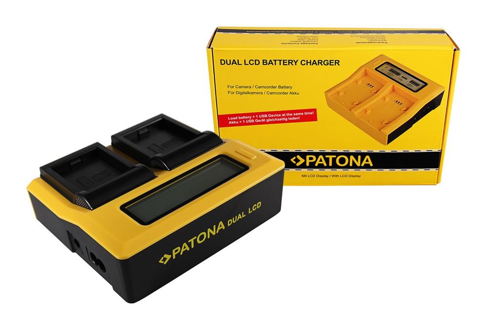 PATONA Dual LCD USB Ladegerät f. GoPro AHDBT-001 HD Hero 1 2